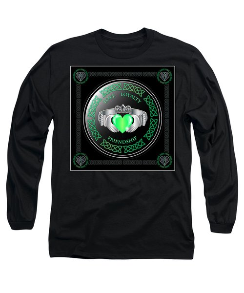 Claddagh Ring Long Sleeve T-Shirt by Ireland Calling