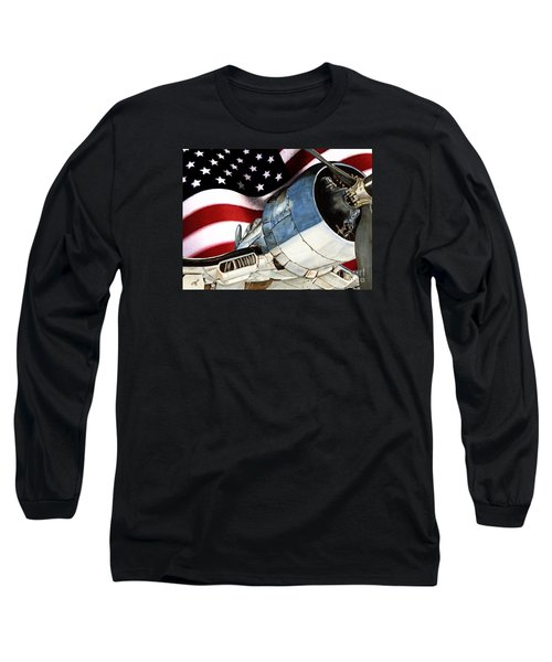 Corsair And Flag Long Sleeve T-Shirt