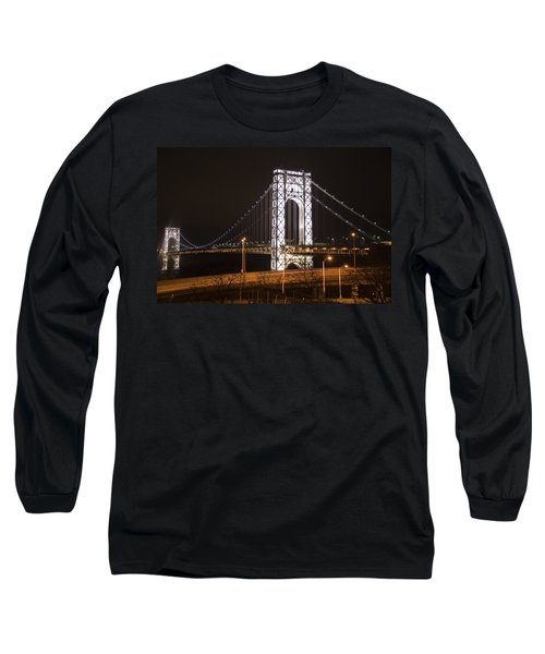 George Washington Bridge On President's Day Long Sleeve T-Shirt