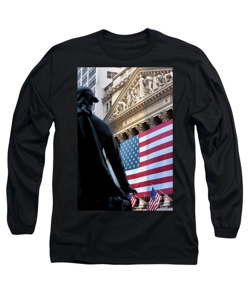 Wall Street Flag Long Sleeve T-Shirt