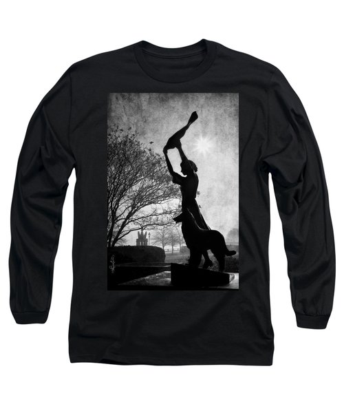 44 Years Of Waving - Black And White Long Sleeve T-Shirt