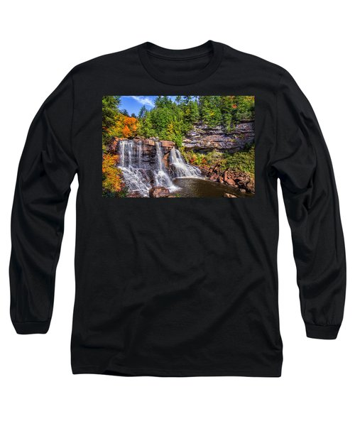 Blackwater Falls Long Sleeve T-Shirt by Mary Almond