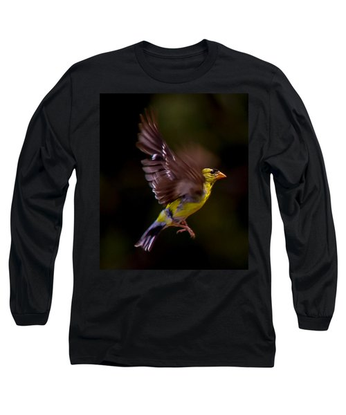Gold Finch Long Sleeve T-Shirt by Brian Williamson