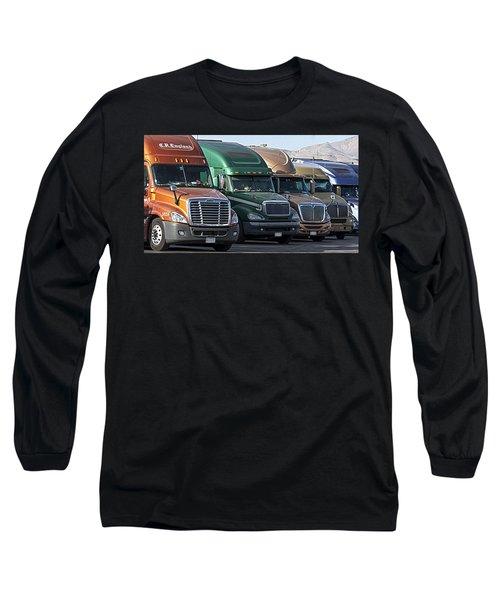 Semi Truck Fleet Long Sleeve T-Shirt
