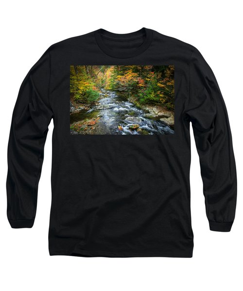Stream Great Smoky Mountains Painted Long Sleeve T-Shirt