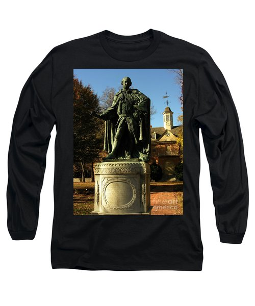 William And Mary College With Wren Building Long Sleeve T-Shirt by Jacqueline M Lewis