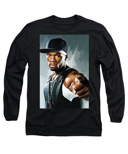 50 Cent Artwork 2 Long Sleeve T-Shirt