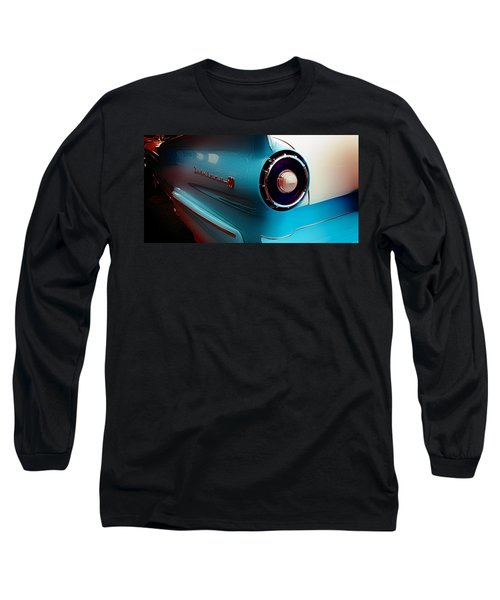 Classic Cars Long Sleeve T-Shirt featuring the photograph '57 Fairlane 500 by Aaron Berg