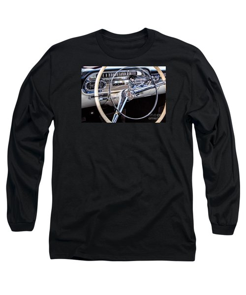 58 Cadillac Dashboard Long Sleeve T-Shirt by Jerry Fornarotto
