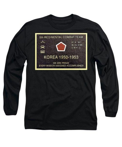 5th Regimental Combat Team Arlington Cemetary Memorial Long Sleeve T-Shirt by Bob and Nadine Johnston