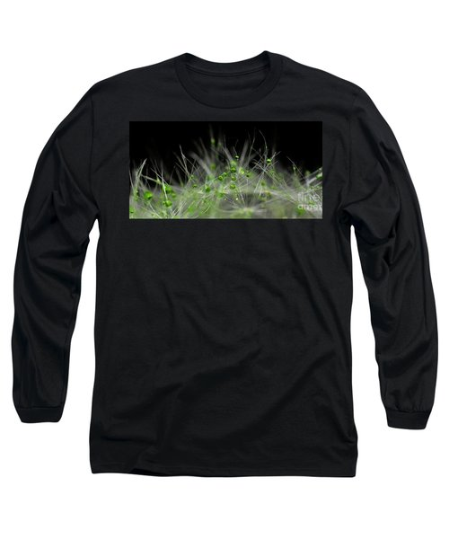 Long Sleeve T-Shirt featuring the photograph Crystal Flower by Sylvie Leandre