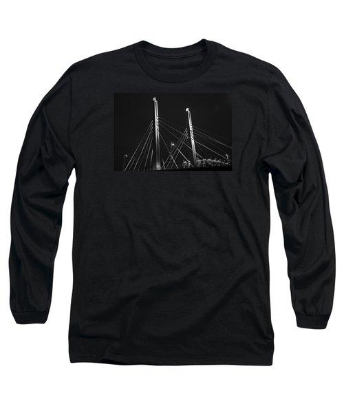 6th Street Bridge Black And White Long Sleeve T-Shirt