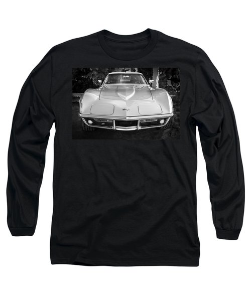 1969 Chevrolet Corvette 427 Bw Long Sleeve T-Shirt
