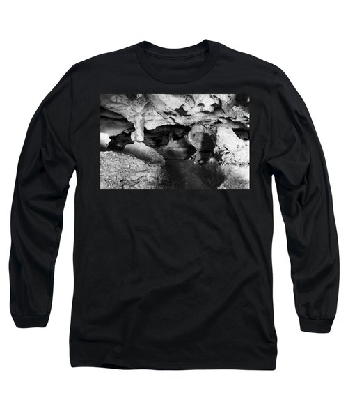 Green Grotto Caves Long Sleeve T-Shirt by Bill Howard