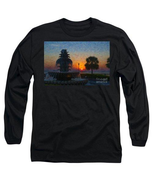 Pineapple Fountain At Dawn Long Sleeve T-Shirt