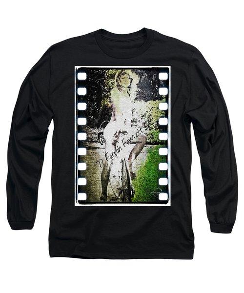 '77 Farrah Fawcett Long Sleeve T-Shirt