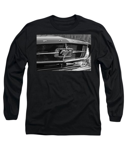 1965 Shelby Prototype Ford Mustang Grille Emblem Long Sleeve T-Shirt by Jill Reger