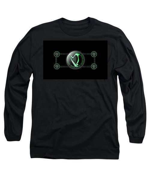 Celtic Harp Long Sleeve T-Shirt