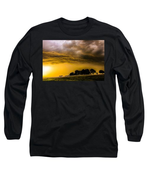 Late Afternoon Nebraska Thunderstorms Long Sleeve T-Shirt