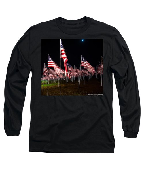 9-11 Flags Long Sleeve T-Shirt