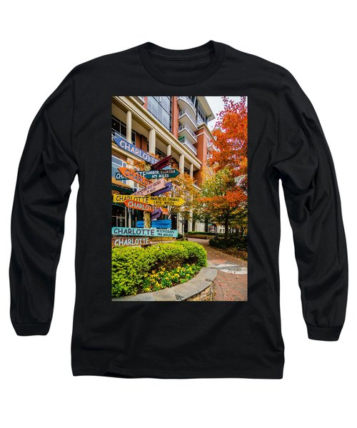 Charlotte City Skyline Autumn Season Long Sleeve T-Shirt