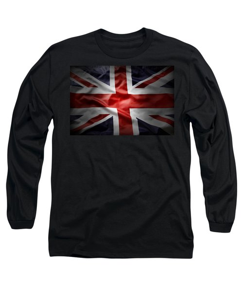 Union Jack  Long Sleeve T-Shirt by Les Cunliffe