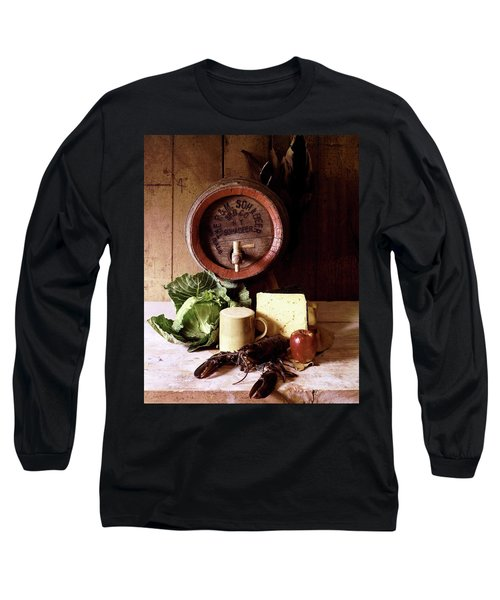 A Barrel Of Beer Long Sleeve T-Shirt by N. Courtney Owen