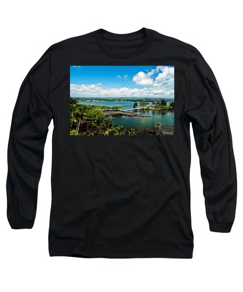 A Beautiful Day Over Hilo Bay Long Sleeve T-Shirt by Christopher Holmes