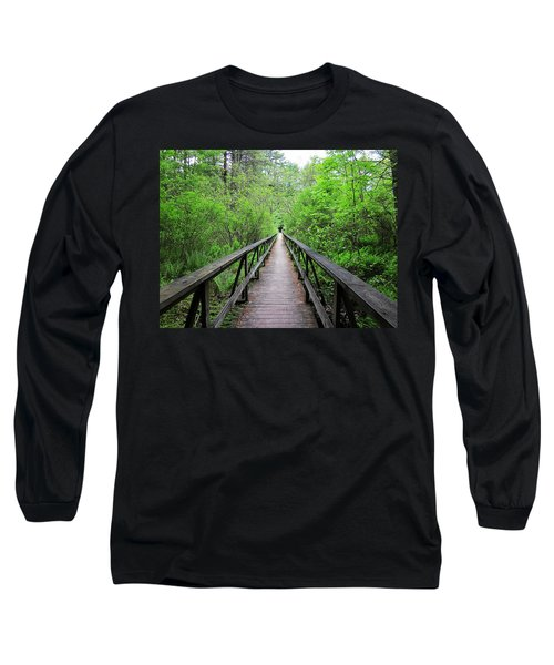 A Bridge To Somewhere Long Sleeve T-Shirt by MTBobbins Photography