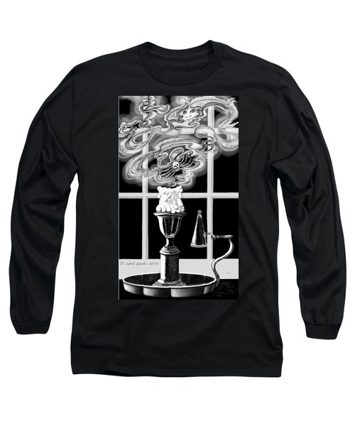 Long Sleeve T-Shirt featuring the digital art A Candle Snuffed by Carol Jacobs