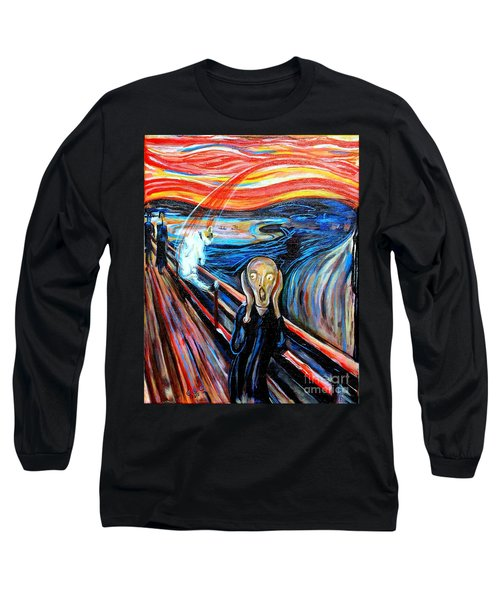 A Cat For Edvard Munch_ Annie Passing Through Long Sleeve T-Shirt