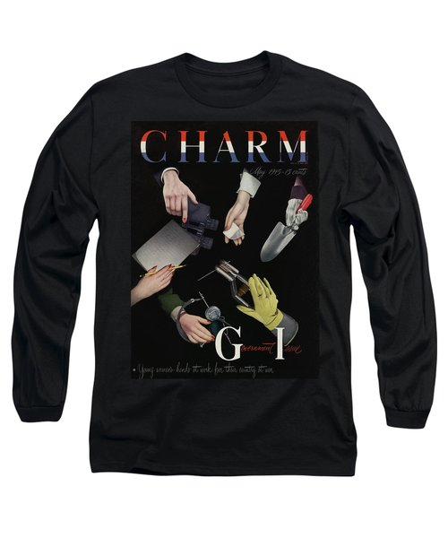 A Charm Cover Of Women's Hands Reaching For Tools Long Sleeve T-Shirt