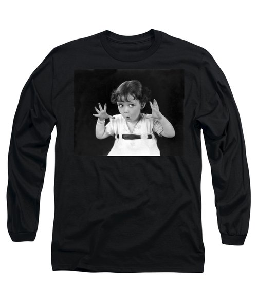 A Child's Scary Look Long Sleeve T-Shirt