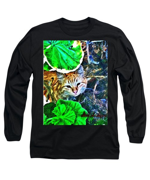 A Curious Cat Long Sleeve T-Shirt