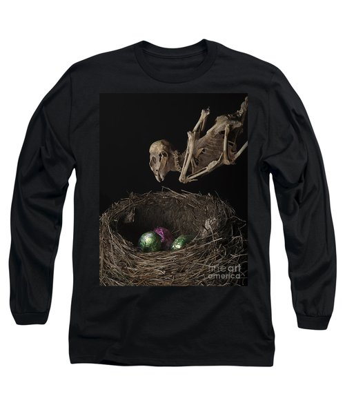 A Dead Bird Flies Into Its Nest Only To Find Chocolate Eggs Long Sleeve T-Shirt