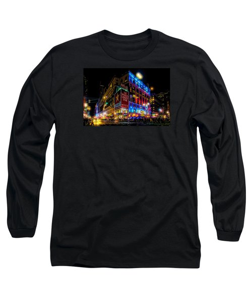 A December Evening At Macy's  Long Sleeve T-Shirt