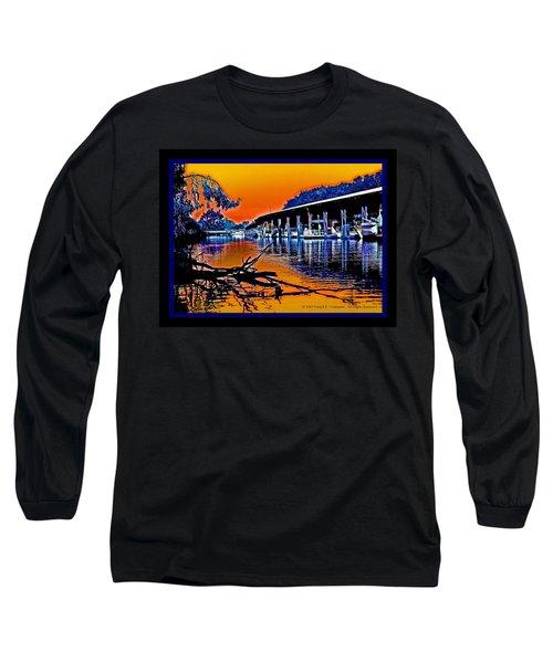 A Delta Sunset  Long Sleeve T-Shirt