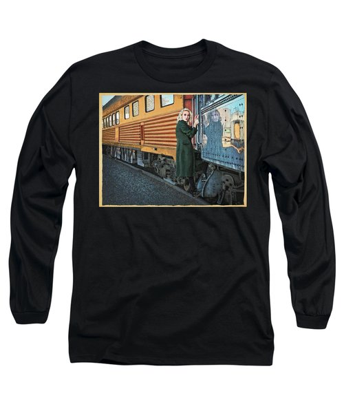 A Departure Long Sleeve T-Shirt by Meg Shearer