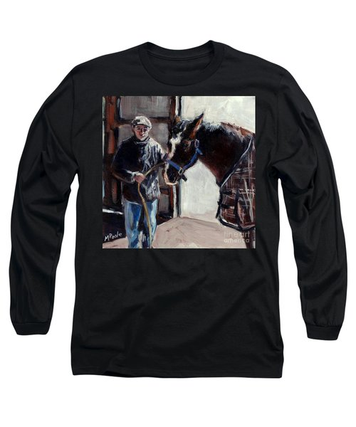 Long Sleeve T-Shirt featuring the painting A Derby Day Of Sorts by Molly Poole