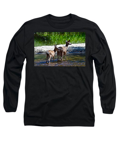 A Doe And Fawn Long Sleeve T-Shirt