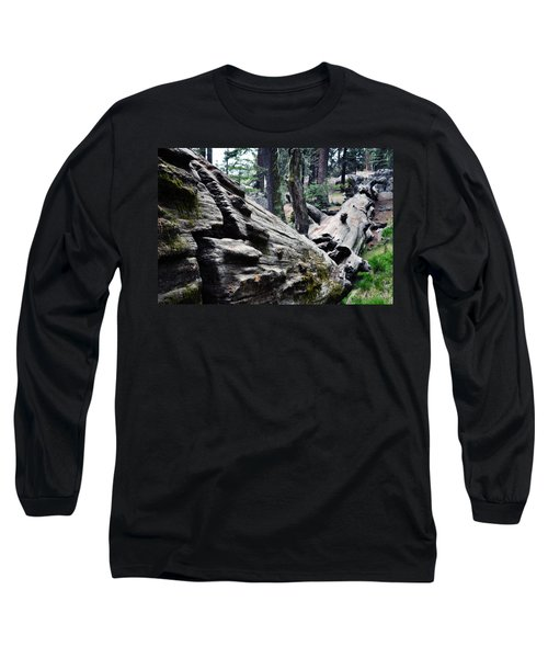 Long Sleeve T-Shirt featuring the photograph A Fallen Giant Sequoia by Kyle Hanson