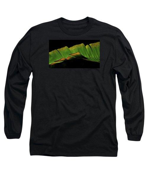 A Floating Heliconia Leaf Long Sleeve T-Shirt by Lehua Pekelo-Stearns