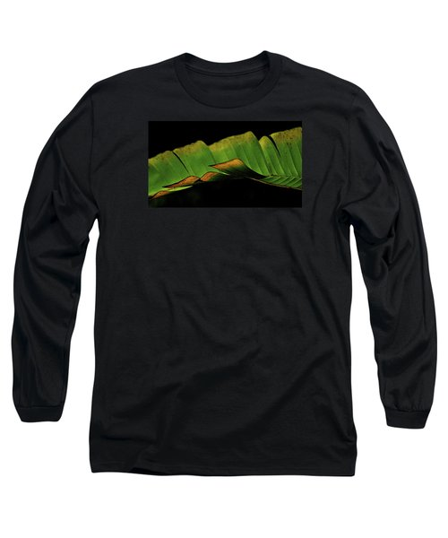 A Floating Heliconia Leaf Long Sleeve T-Shirt