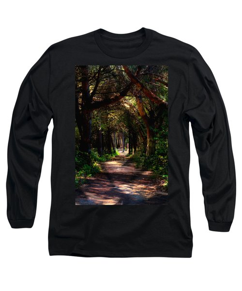 A Forest Path -dungeness Spit - Sequim Washington Long Sleeve T-Shirt