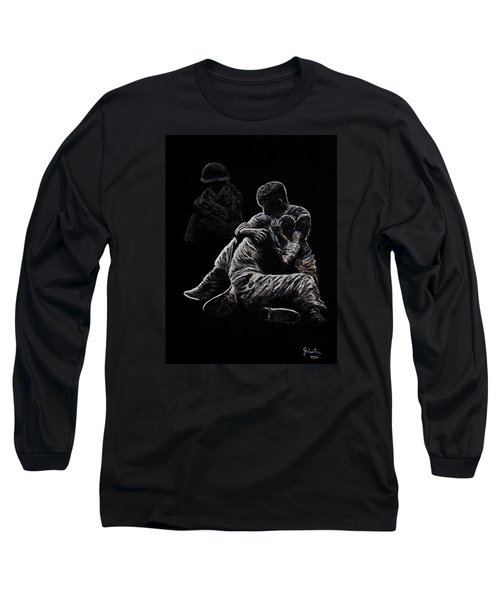 Long Sleeve T-Shirt featuring the painting My Friend Killed In Korean War by Bob Johnston