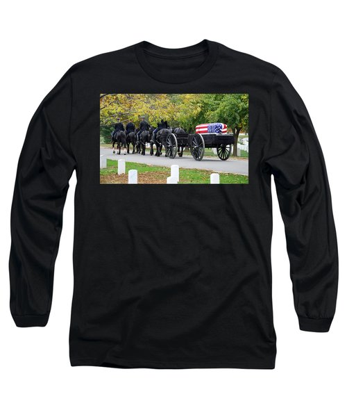 Long Sleeve T-Shirt featuring the photograph A Funeral In Arlington by Cora Wandel