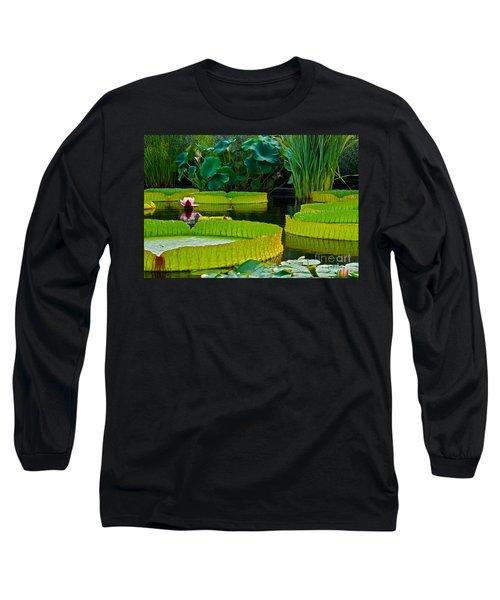 A Garden In Gentle Waters Long Sleeve T-Shirt