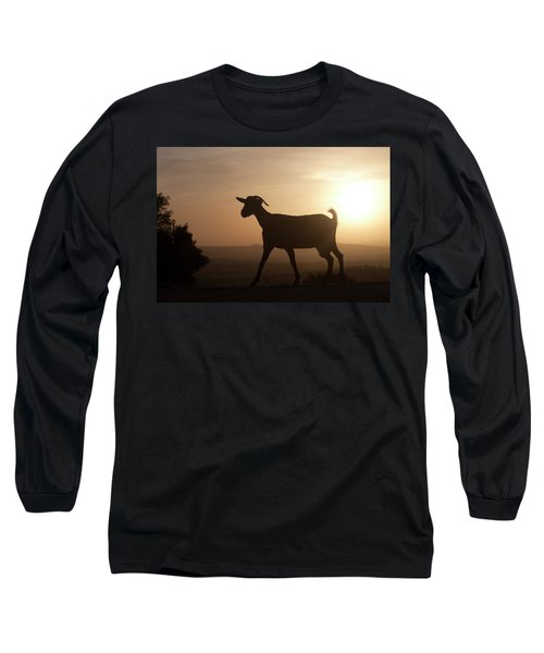 A Goat Walks At Sunset In Prado Del Long Sleeve T-Shirt