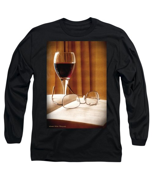 A Good Book And A Glass Of Wine Long Sleeve T-Shirt