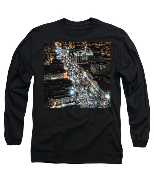 A Gothic Night In New Orleans On Canal Street Long Sleeve T-Shirt